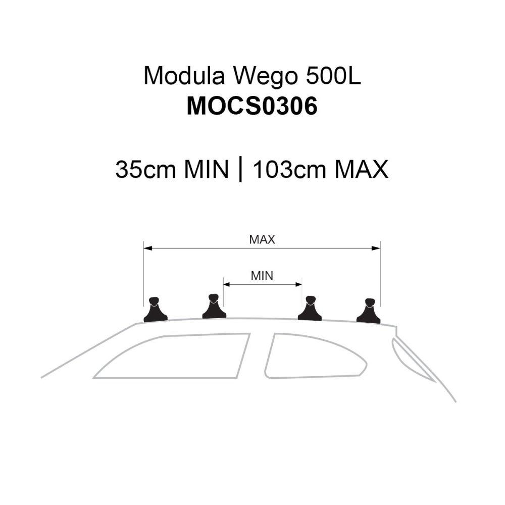 Wego 500L Gloss Black Roof Box