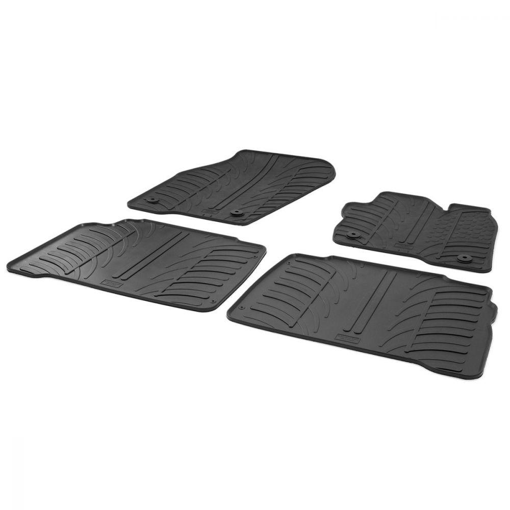 Tailored Black Rubber 4 Piece Floor Mat Set to fit Ford Galaxy Mk.4 2015 - 2020