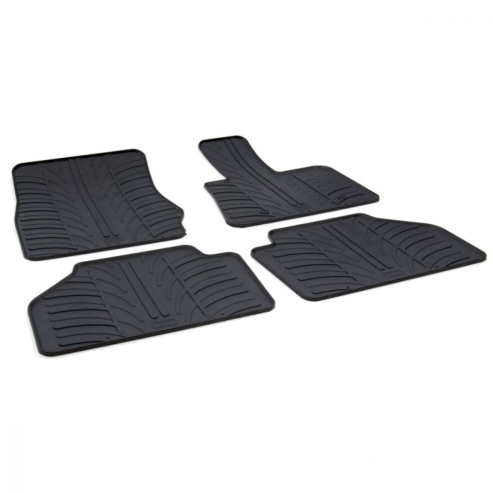 Tailored Black Rubber 4 Piece Floor Mat Set to fit BMW X3 (F25) 2011 - 2017