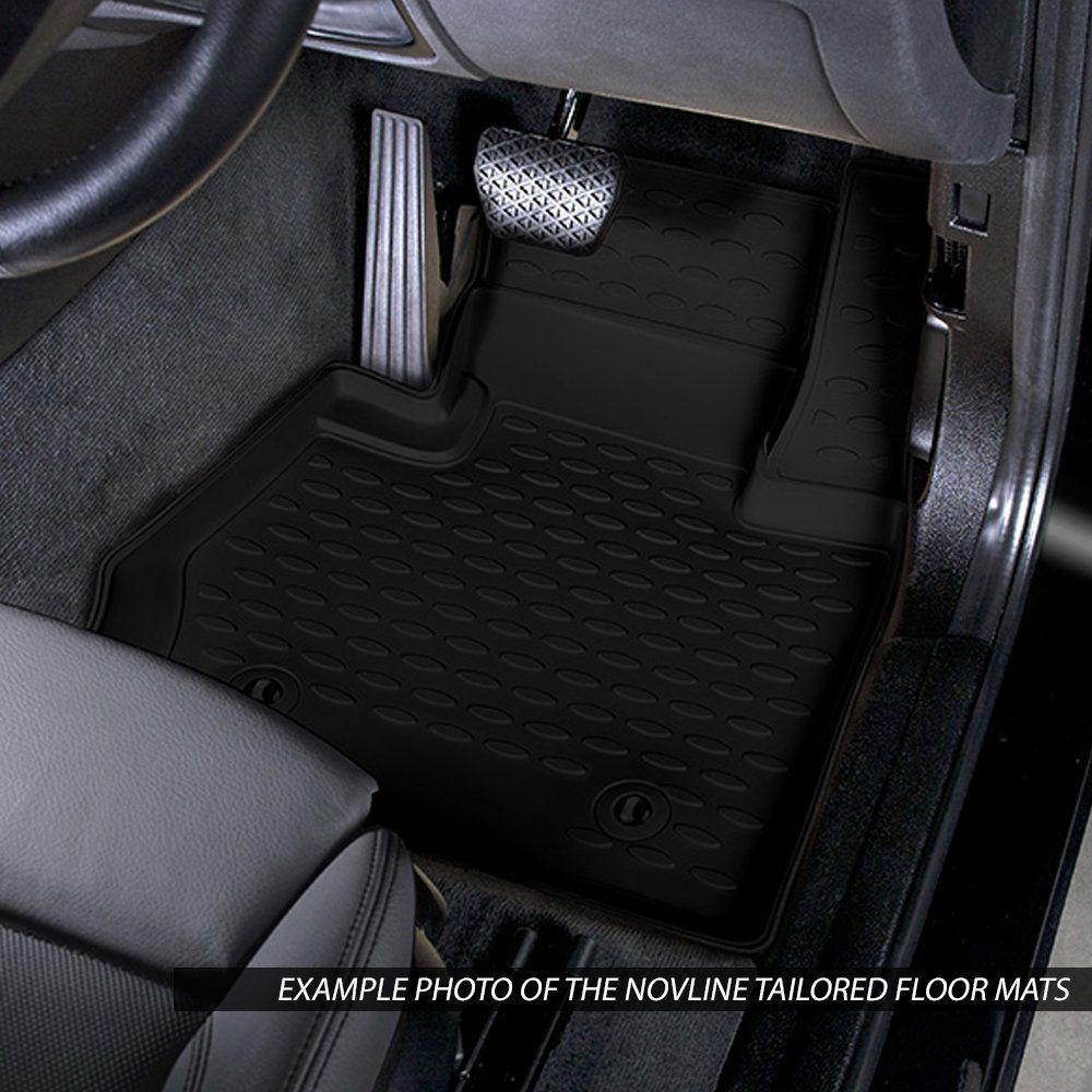 Tailored Black Rubber 4 Piece Floor Mat Set to fit Volkswagen Amarok (Double Cab) 2011 - 2020