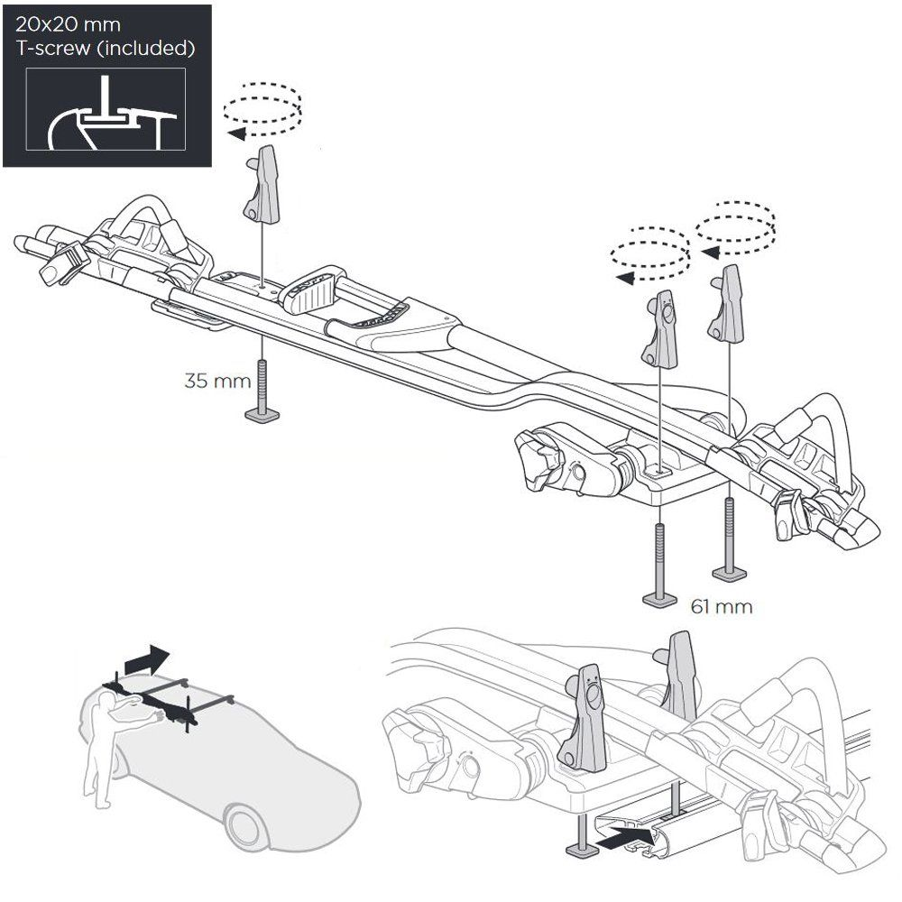 ProRide 598 Roof Mount Cycle Carrier - Silver