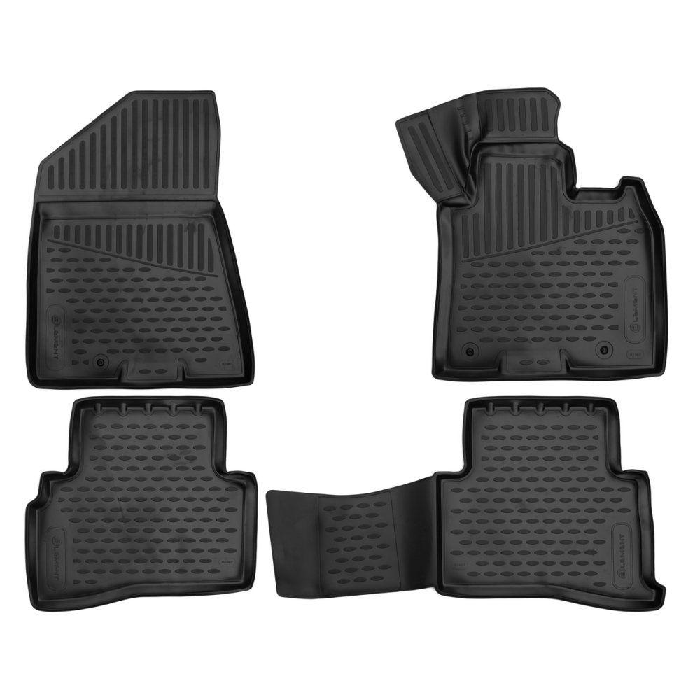Tailored Black Rubber 4 Piece Floor Mat Set to fit Kia Sportage Mk.4 2016 - 2020