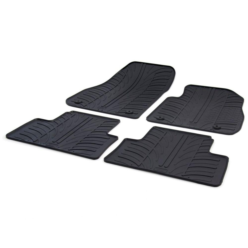Tailored Black Rubber 4 Piece Floor Mat Set to fit Vauxhall Zafira Tourer (C) Mk.3 2012 - 2018