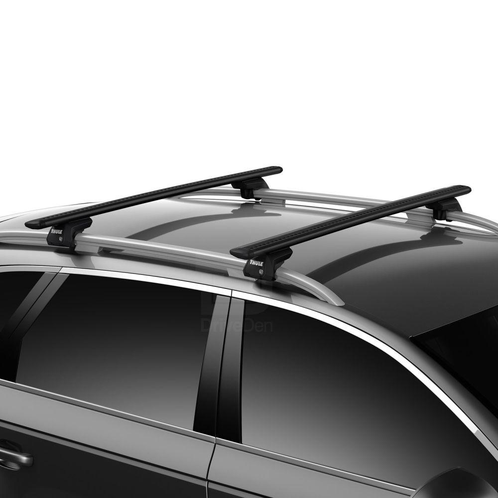 WingBar Evo Black Aluminium Roof Bars to fit Citroen Berlingo Multispace Mk.2 2008 - 2018 (Open Roof Rails, MPV)