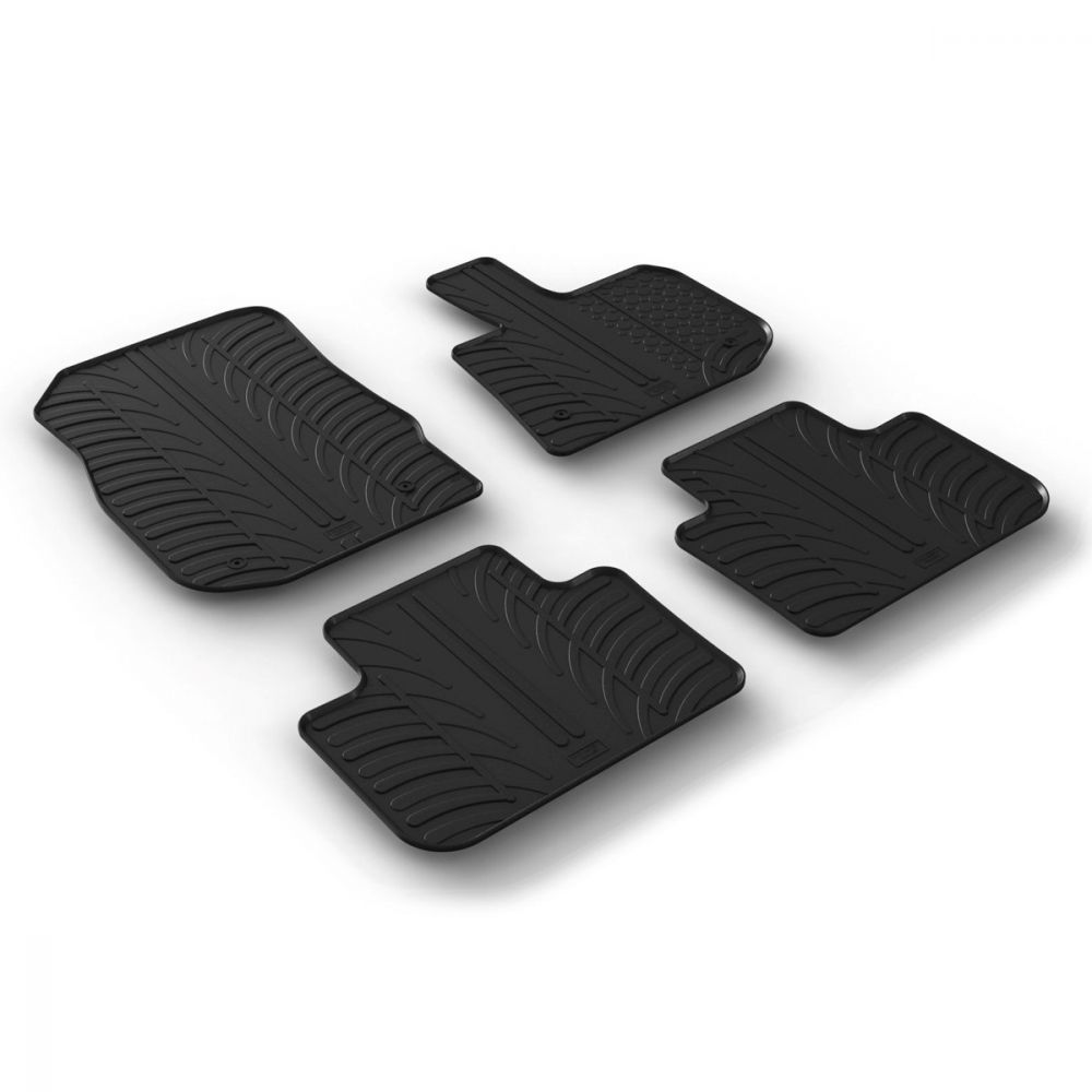 Tailored Black Rubber 4 Piece Floor Mat Set to fit BMW X3 (G01) 2017 - 2020