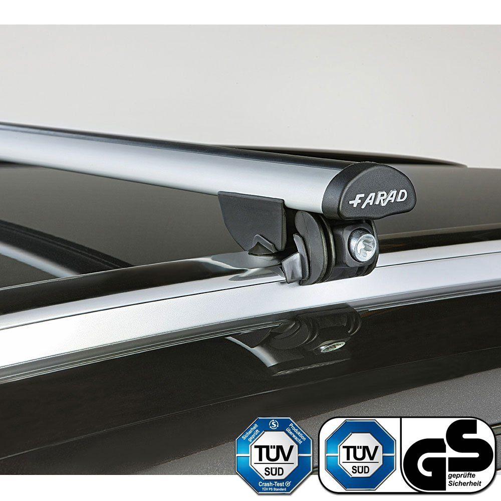 Aero Silver Aluminium Roof Bars to fit Mitsubishi Outlander (3rd Gen) 2013 - 2020 (Closed Roof Rails, SUV)
