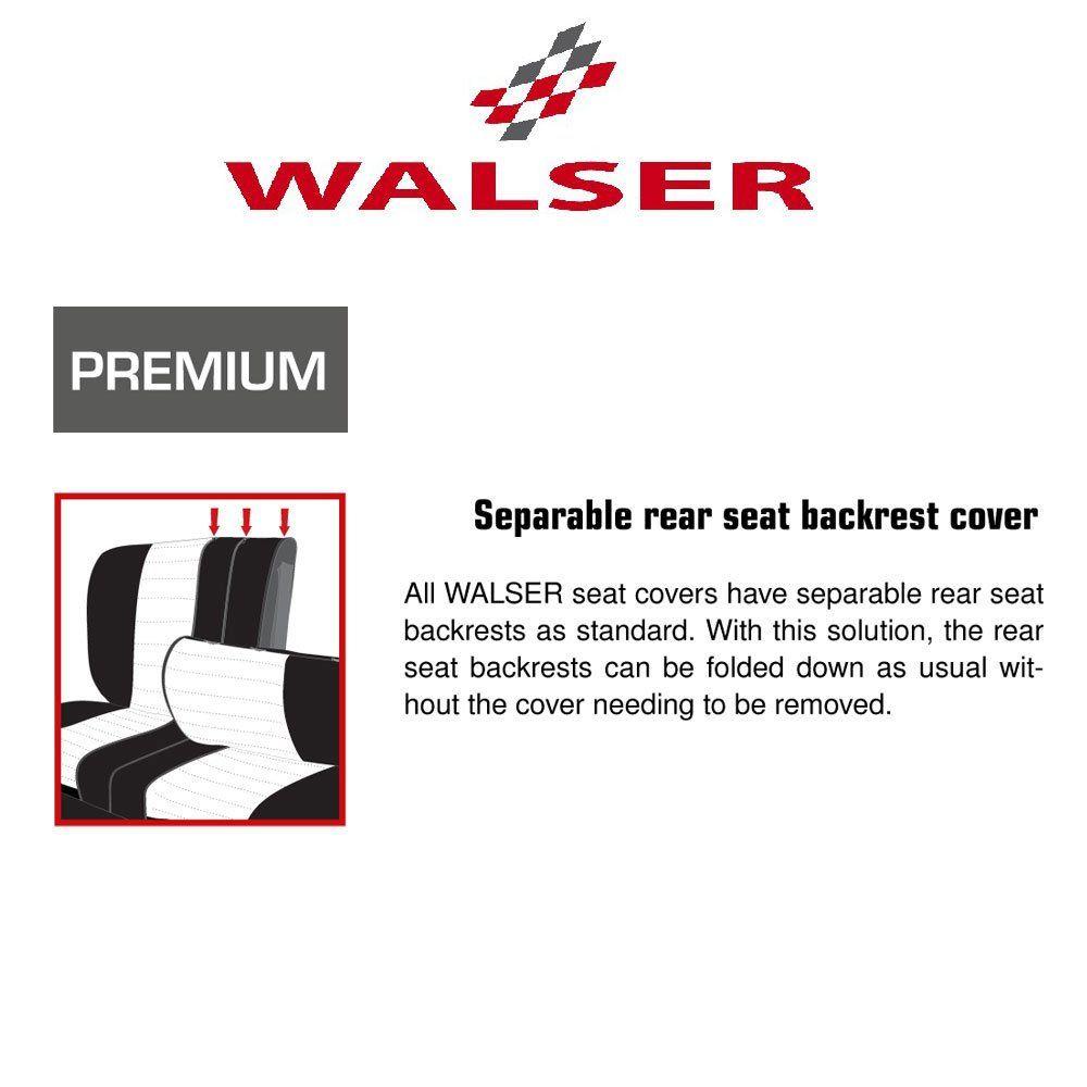 Portland Black/Grey Car Seat Cover Set