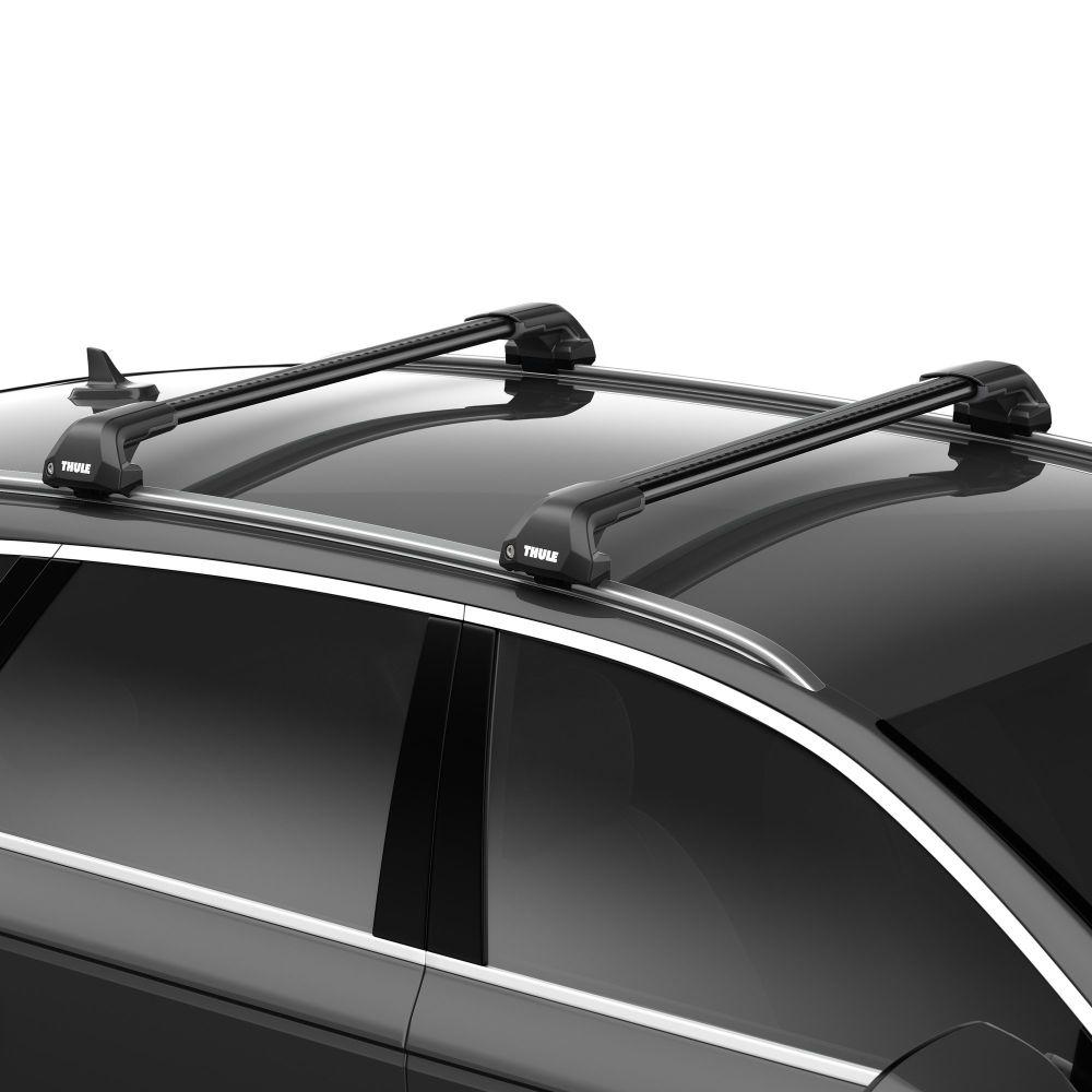 WingBar Edge Black Aluminium Roof Bars to fit Audi A6 Avant (C6) 2005 - 2011 (Closed Roof Rails)