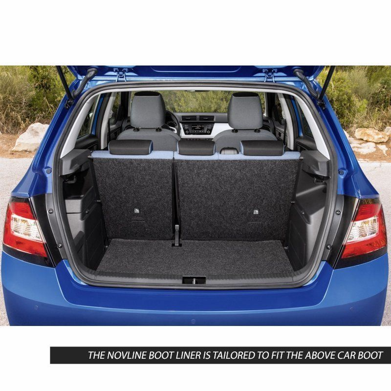 Tailored Black Boot Liner to fit Skoda Fabia Mk.3 Hatchback 2014 - 2020