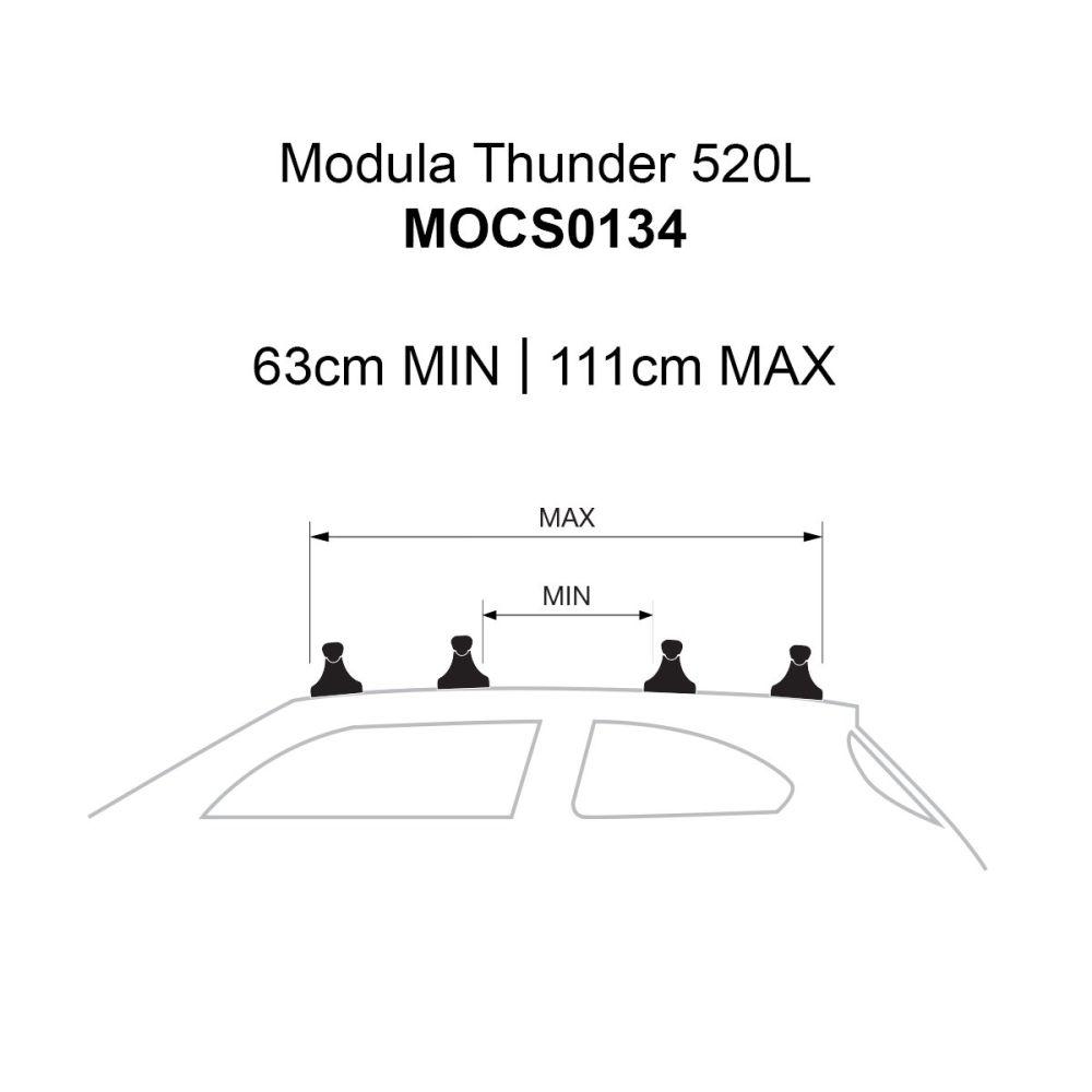 Thunder 520L Gloss Black Roof Box