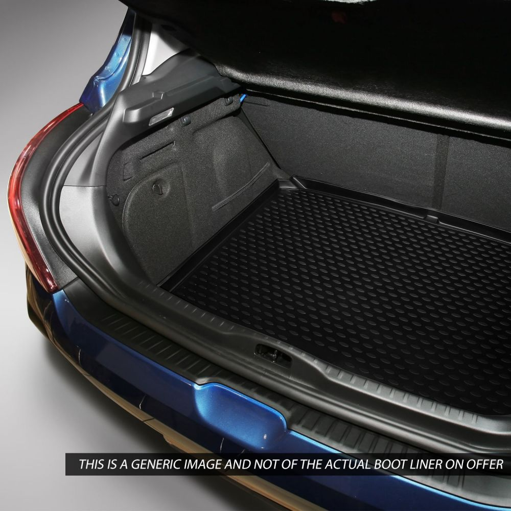 Tailored Black Boot Liner to fit Volvo V40 (with Raised Boot Floor) 2012 - 2019