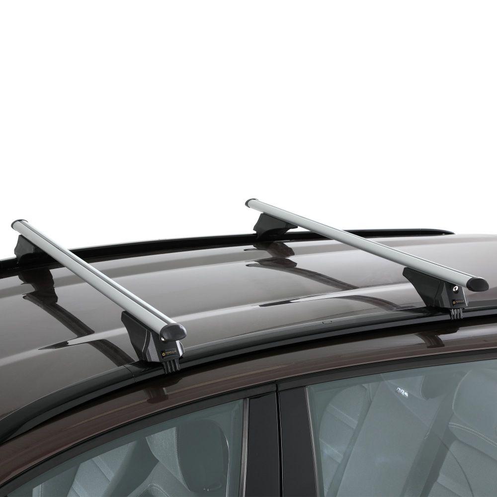 Smart Aluminium Silver Roof Bars to fit Audi A6 Avant (C7) 2011 - 2018 (Closed Roof Rails)
