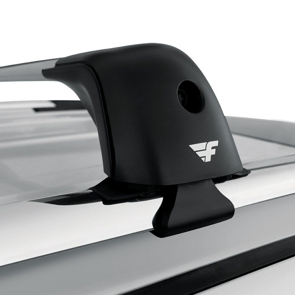 Compact Pro Wing Silver Aluminium Roof Bars to fit Mitsubishi Outlander (2nd Gen) 2008 - 2013 (Open Roof Rails, SUV)