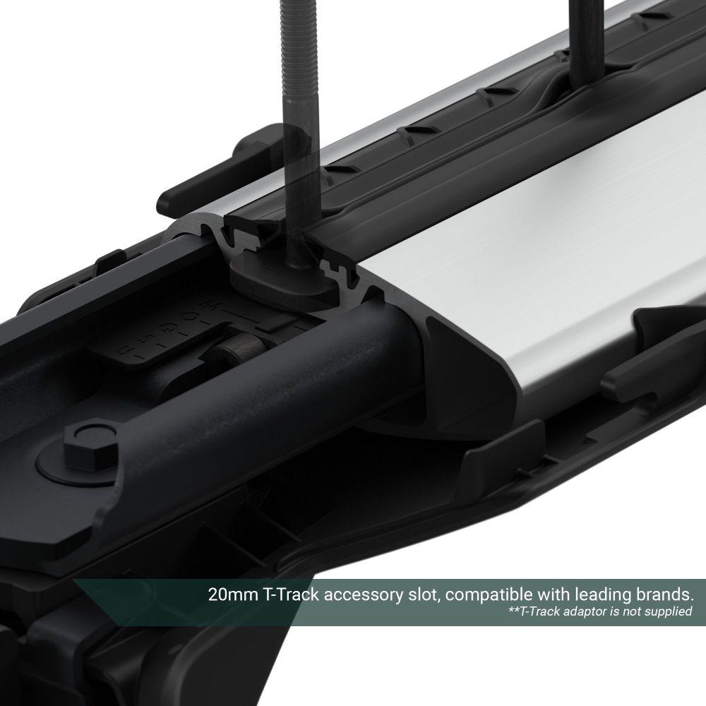 WingBar Edge Silver Aluminium Roof Bars to fit Ford Fiesta (5 Door) Mk.8 2017 - 2021 (No Roof Rails)
