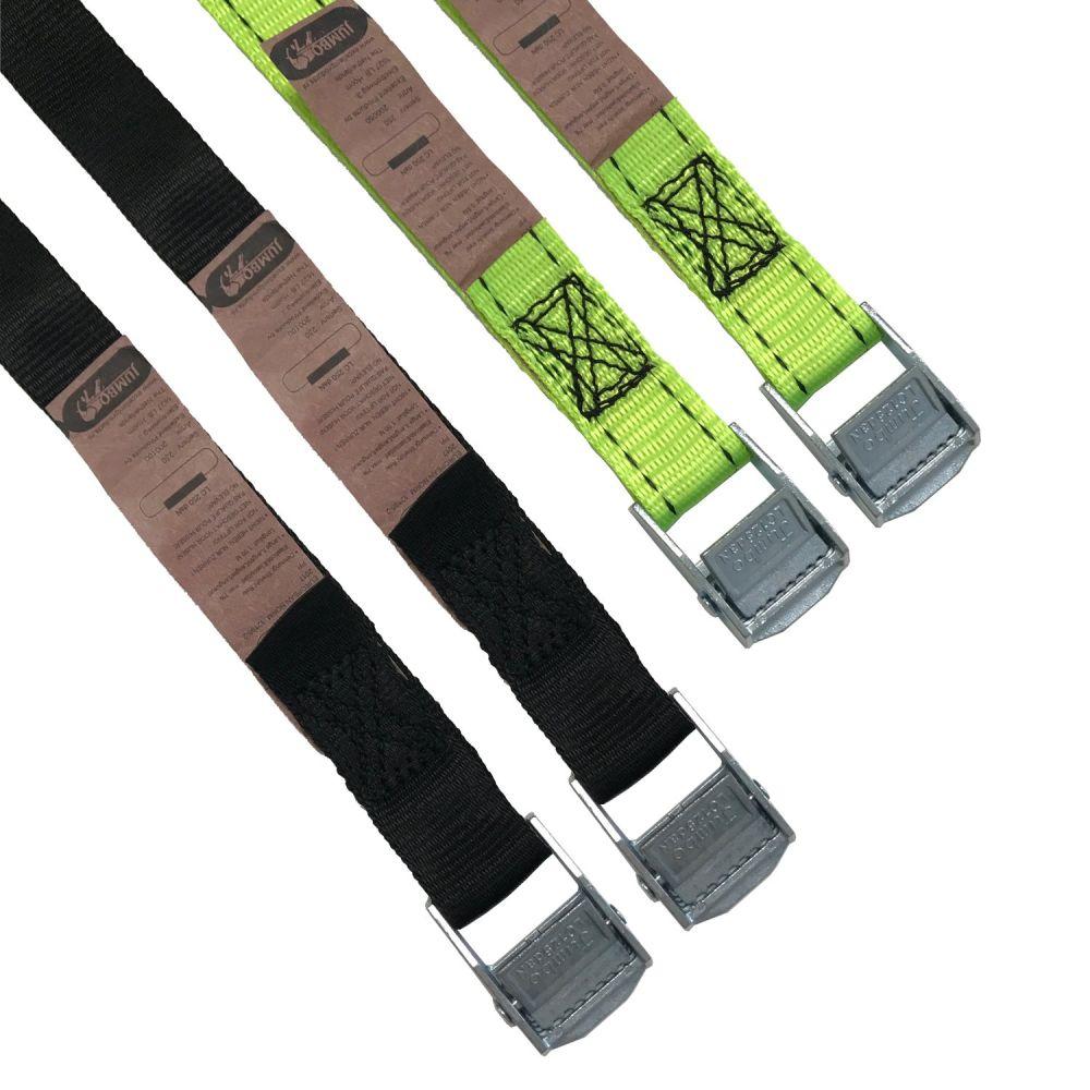 Cam Buckle Tie Down Set -  2 x 0.5m & 2 x 1m