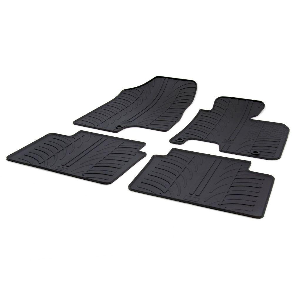 Tailored Black Rubber 4 Piece Floor Mat Set to fit Kia Cee'd Mk.2 2012 - 2018