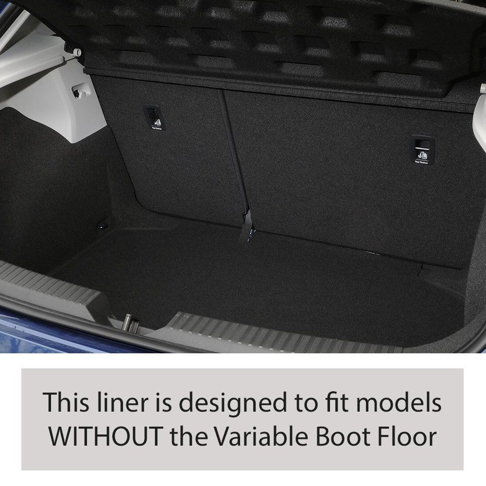 Tailored Black Boot Liner to fit Seat Leon Mk.3 (5 Door) Hatchback (without Variable Boot Floor) 2013 - 2020