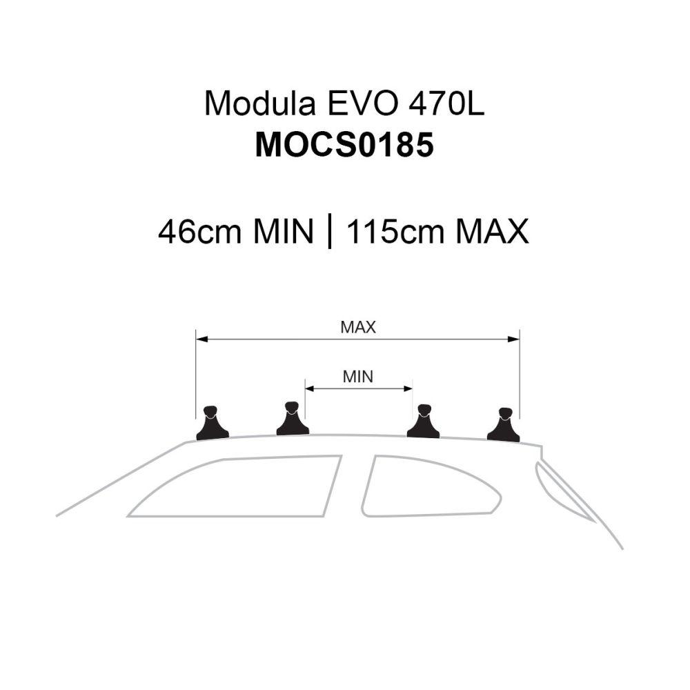 EVO 470L Textured Matte Grey Roof Box