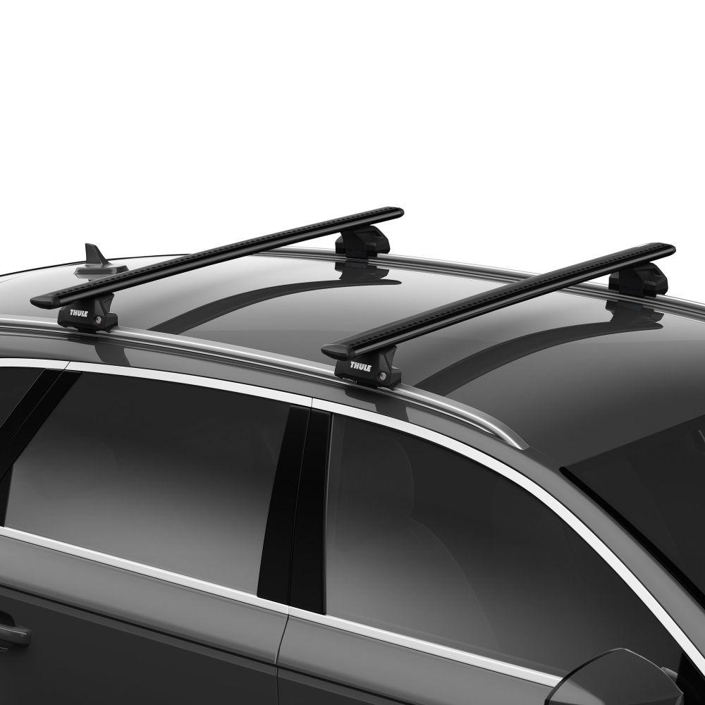 WingBar Evo Black Aluminium Roof Bars to fit Audi A6 Avant (C7) 2011 - 2018 (Closed Roof Rails)