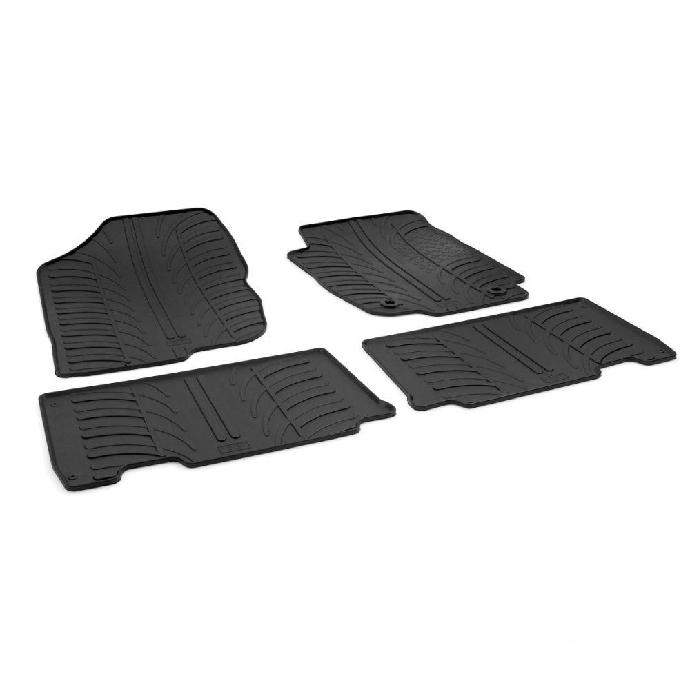 Tailored Black Rubber 4 Piece Floor Mat Set to fit Toyota RAV4 Mk.4 2013 - 2018