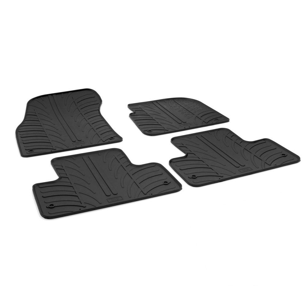 Tailored Black Rubber 4 Piece Floor Mat Set to fit Land Rover Range Rover Evoque 2011 - 2018