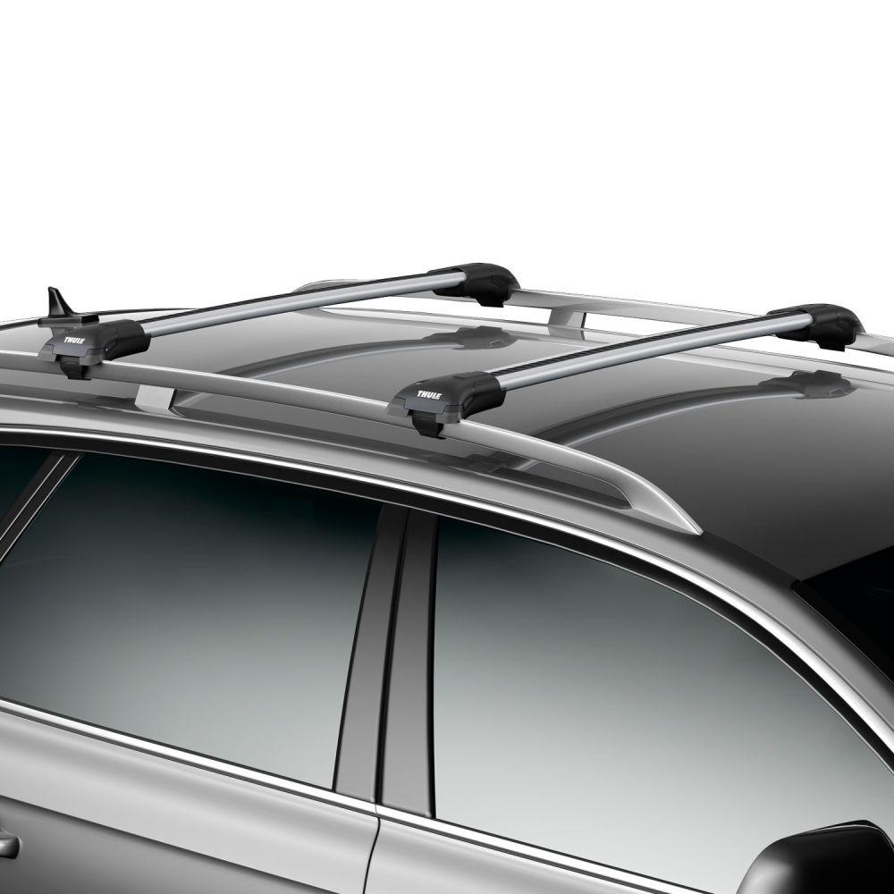 WingBar Edge Silver Aluminium Roof Bars to fit BMW X3 (E83) 2003 - 2010 (Open Roof Rails, SUV)