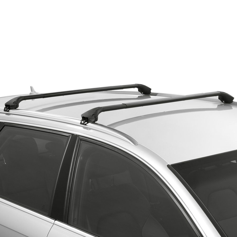 Oval Aluminium Black Roof Bars to fit BMW 2 Series Active Tourer (F45) 2014 - 2020 (Closed Roof Rails, MPV)