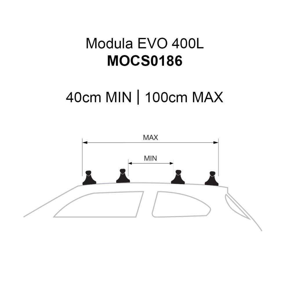 EVO 400L Gloss Black Roof Box