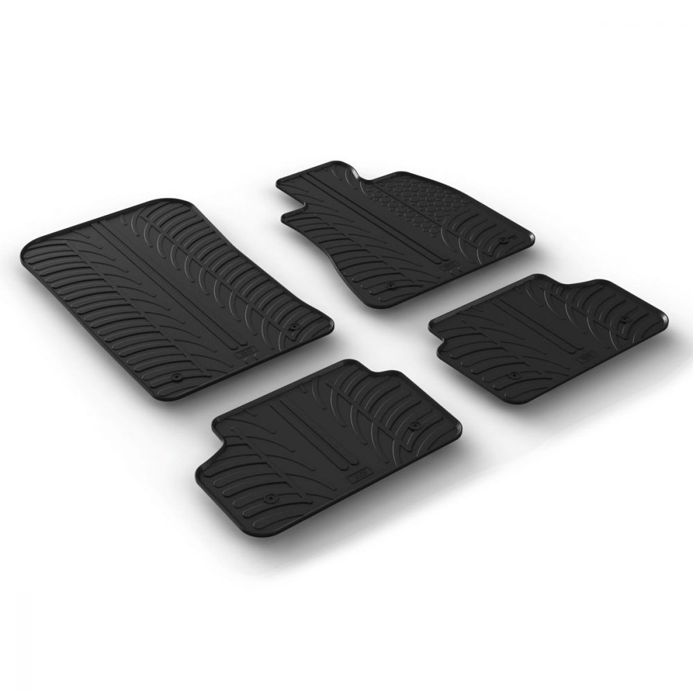 Tailored Black Rubber 4 Piece Floor Mat Set to fit BMW 5 Series (G30/G31) 2017 - 2020
