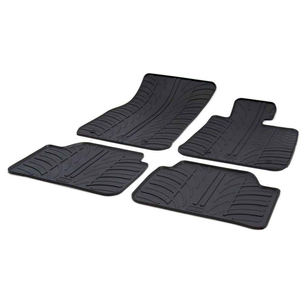 Tailored Black Rubber 4 Piece Floor Mat Set to fit BMW 1 Series (F20) (5 Door) 2011 - 2019
