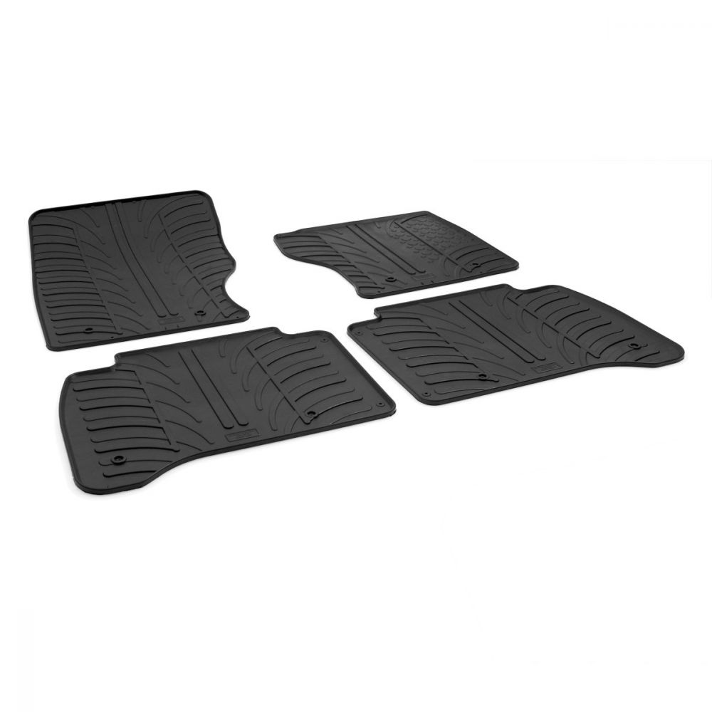 Tailored Black Rubber 4 Piece Floor Mat Set to fit Land Rover Range Rover Sport 2013 - 2020