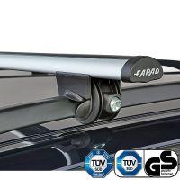 Aero Silver Aluminium Roof Bars to fit Mitsubishi Outlander (2nd Gen) 2008 - 2013 (Open Roof Rails, SUV)