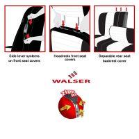 Allessandro Zipp-It Black Car Seat Cover Set