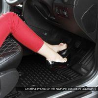 Tailored Black Rubber 3 Piece Floor Mat Set to fit Volkswagen Transporter T6 & T6.1 Kombi 2015 - 2020