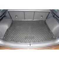 Tailored Black Boot Liner to fit Volkswagen Tiguan Mk.2 2016 - 2020 (with Raised Boot Floor)
