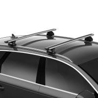 WingBar Evo Silver Aluminium Roof Bars to fit Audi A6 Avant (C8) 2019 - 2021 (Closed Roof Rails)