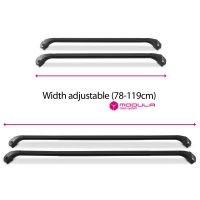 Oval Aluminium Black Roof Bars to fit Peugeot 5008 Mk.2 2017 - 2020 (Closed Roof Rails, SUV)