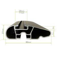 Wing Black Aluminium Roof Bars to fit Ford Fiesta (5 Door) Mk.6 2002 - 2008 (No Roof Rails)