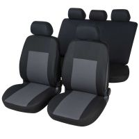Luan Black/Grey Car Seat Cover Set