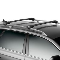 WingBar Edge Black Aluminium Roof Bars to fit Ford Kuga Mk.2 2013 - 2019 (Open Roof Rails, SUV)