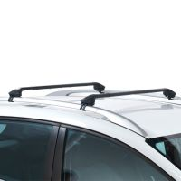 Oval Aluminium Silver Roof Bars to fit Hyundai ix55 2008 - 2012 (Open Roof Rails, SUV)