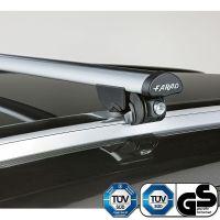 Aero Silver Aluminium Roof Bars to fit Audi A6 Avant (C6) 2005 - 2011 (Closed Roof Rails)
