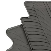 Tailored Black Rubber 2 Piece Floor Mat Set to fit Peugeot Partner Van II 2008 - 2018