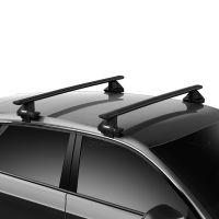 WingBar Evo Black Aluminium Roof Bars to fit Audi A1 Sportback Mk.2 2019 - 2020 (Non Roof Rails, Hatchback)