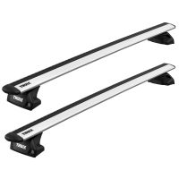 WingBar Evo Silver Aluminium Roof Bars to fit Audi A3 Sportback (5 Door) (8V) 2013 - 2020 (Closed Roof Rails, Hatchback)