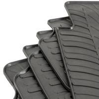 Tailored Black Rubber 5 Piece Floor Mat Set to fit Citroen Berlingo Multispace 2008 - 2018