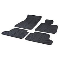 Tailored Black Rubber 4 Piece Floor Mat Set to fit BMW 2 Series (F22) Coupe 2014 - 2020