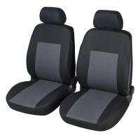 Luan Front Black/Grey Car Seat Covers